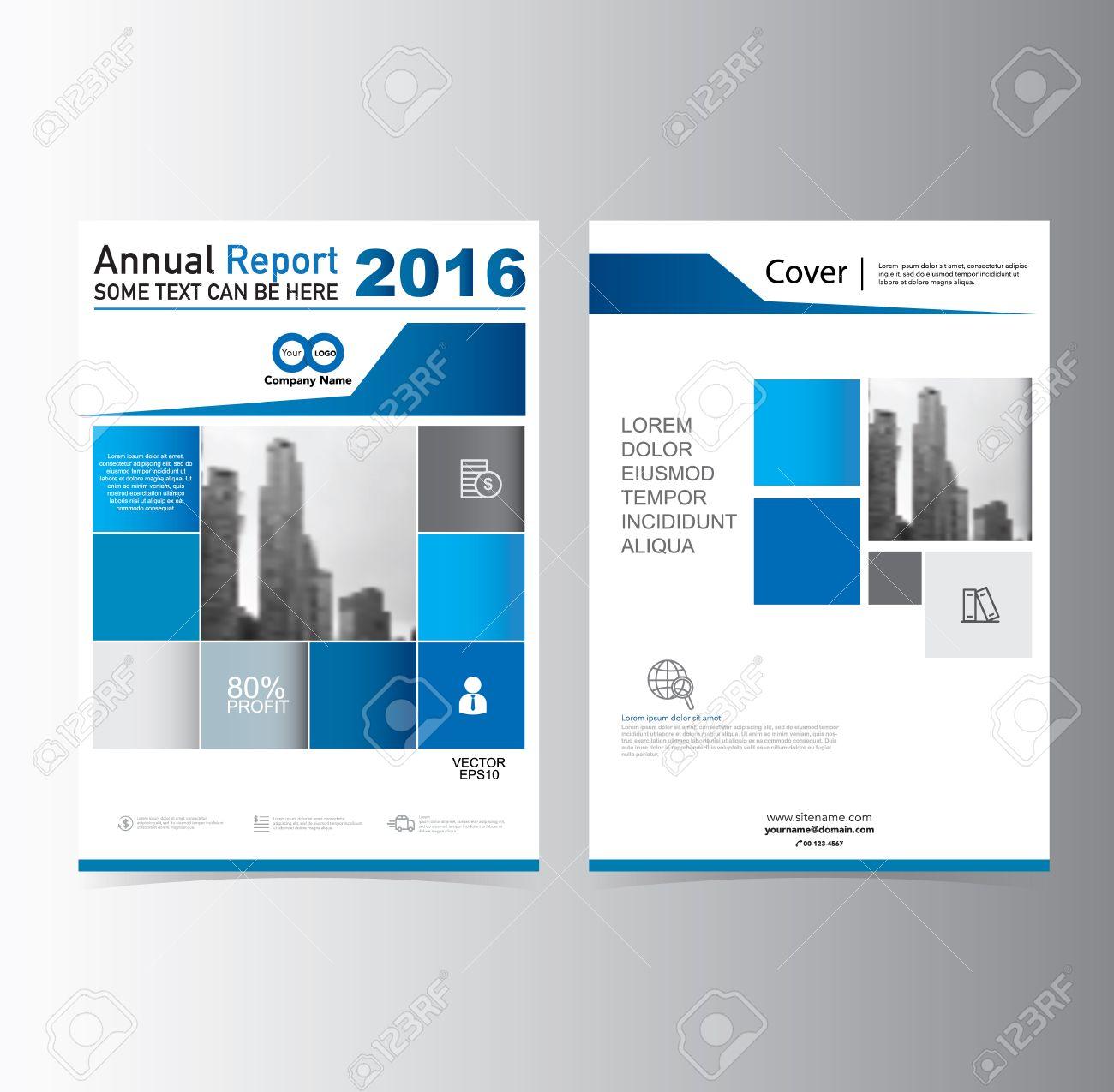 Blau Jahresbericht Broschüre Flyer Broschüre Vorlage Vektor A4 ...