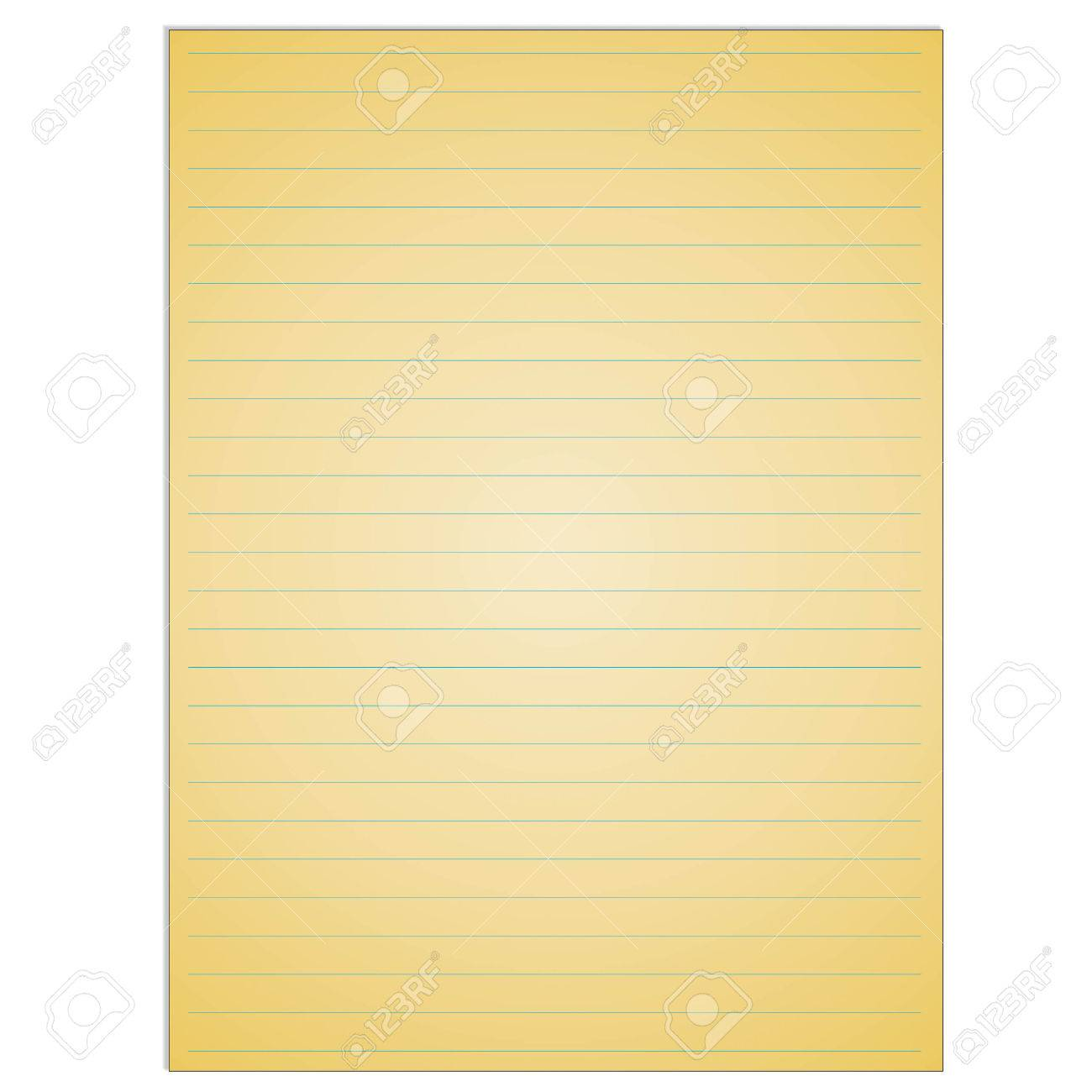 School Notebook Paper Sheet Exercise Book Page Background Lined Notepad Backdrop Stock Vector