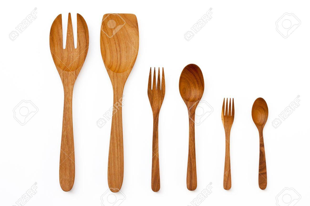 Wooden Kitchen Utensils And Spatula And Ladles Stock Photo, Picture ...