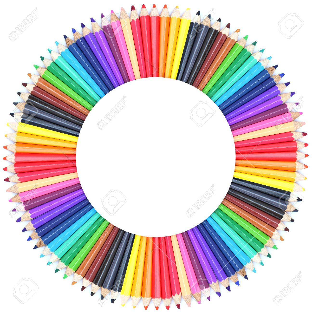Circle color chart made of color pencils stock photo picture and circle color chart made of color pencils stock photo 12975043 nvjuhfo Image collections