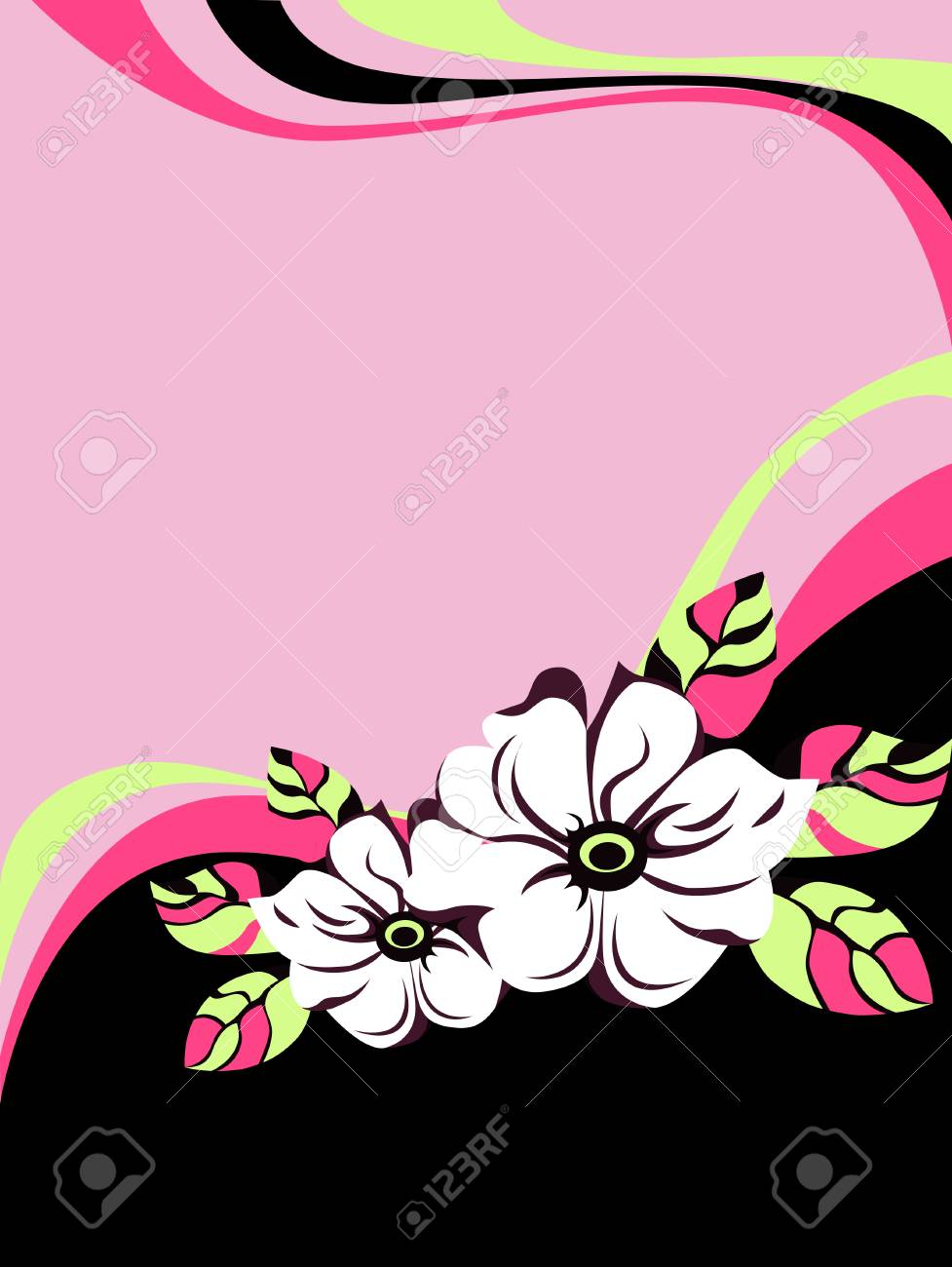 Floral vector background Stock Vector - 4548508