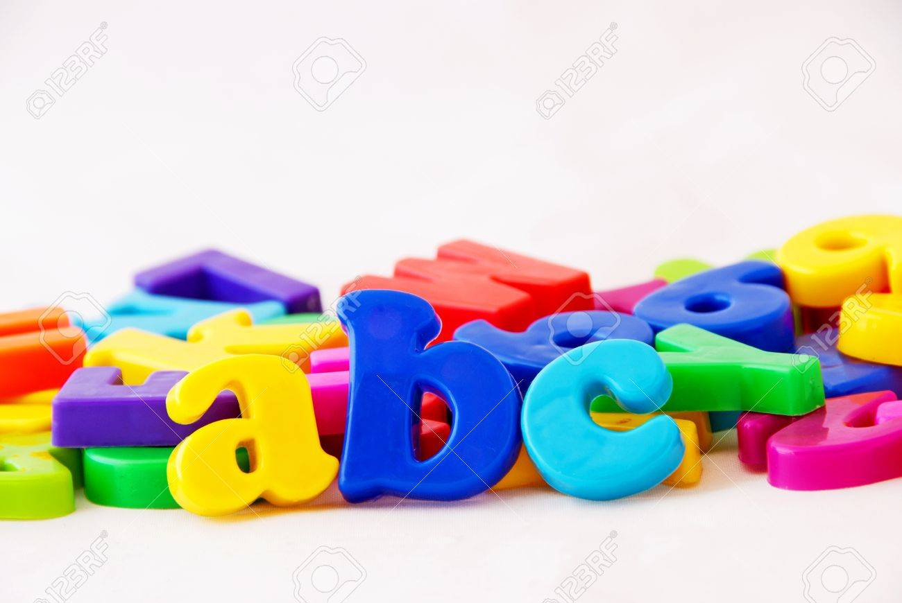 abc magnetic alphabet letters stock photo 10306674