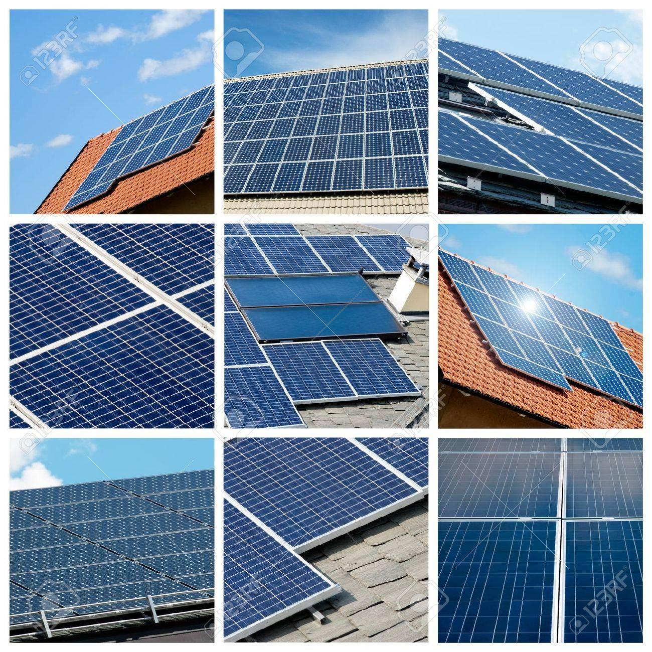 Solar panels collage Stock Photo - 10306686