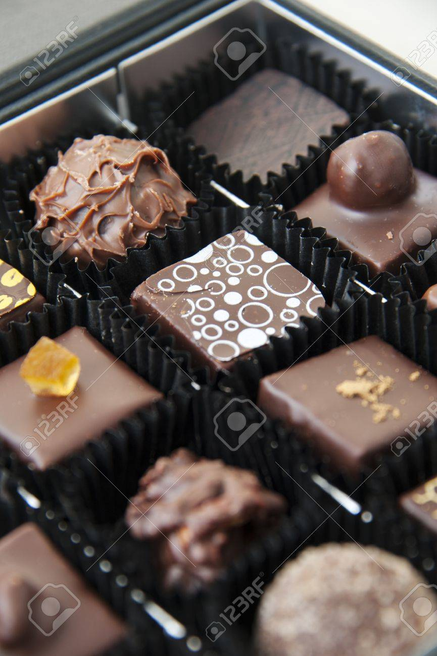 delicious chocolate pralines in abox gift Stock Photo - 17514008