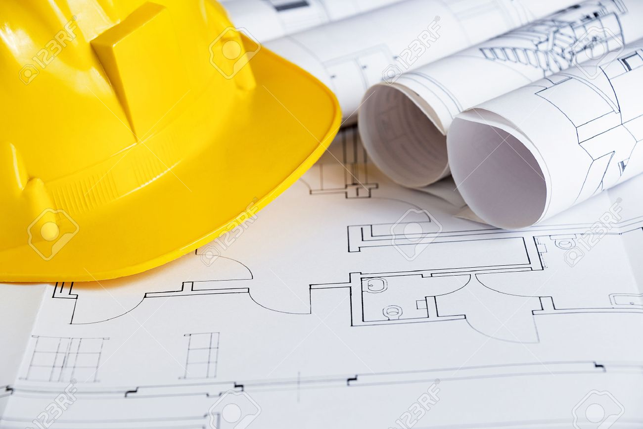 Construction theme with blueprints and safety helmet stock photo construction theme with blueprints and safety helmet stock photo 28455139 malvernweather Gallery