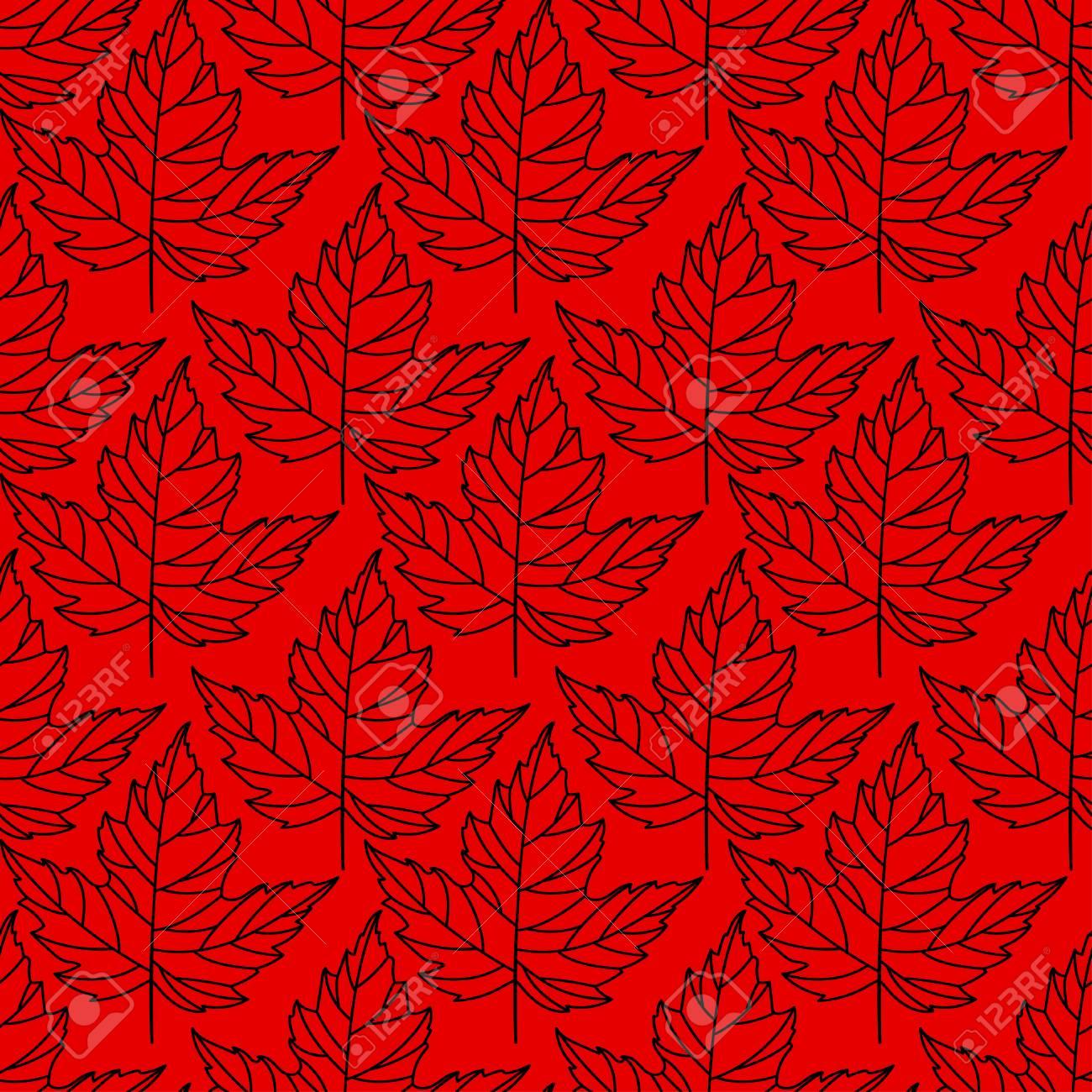 autumn seamless stylized leaf pattern seamless decorative template