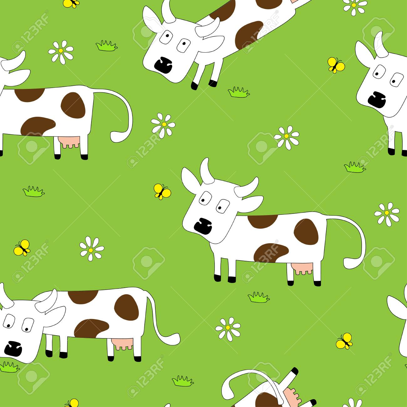 Cow pattern wallpaper