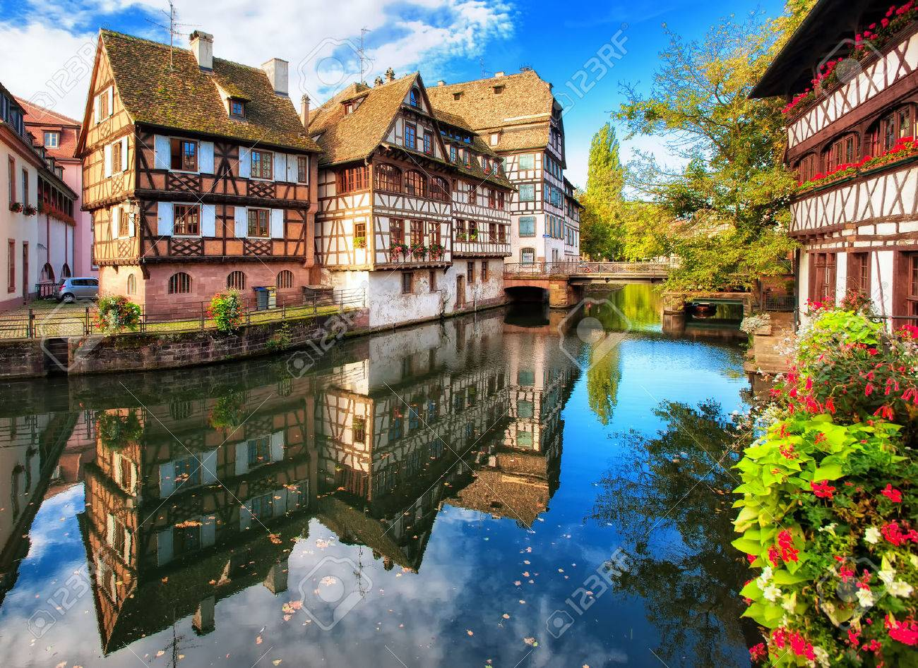 Traditional half-timbered houses in La Petite France district, Strasbourg, France - 48879114