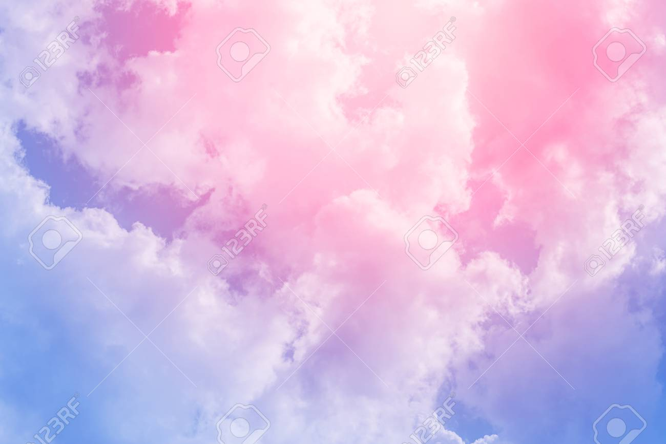 cloud background with a pastel colored gradient stock photo picture