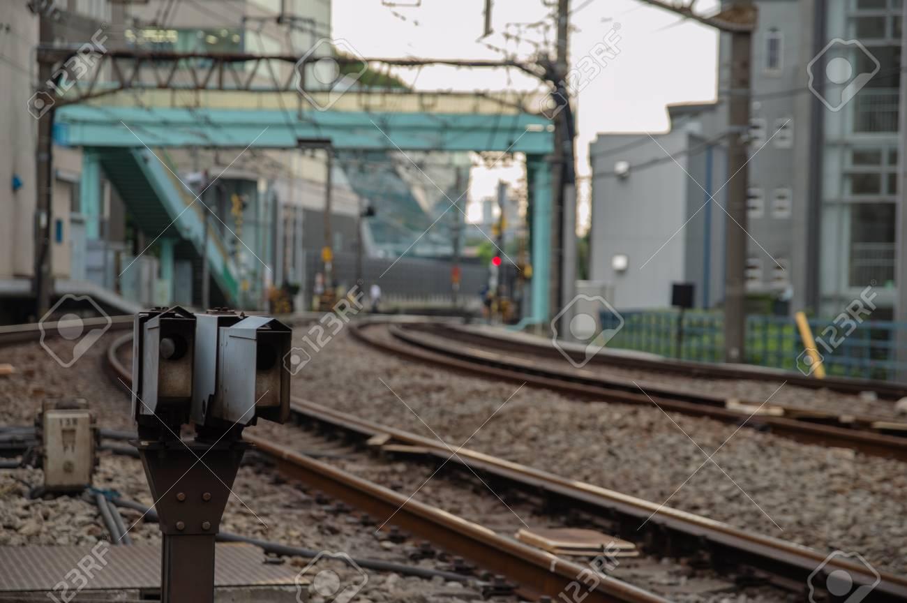 Tokyo, Japan - railroad tracks  Railway transportation infrastructure