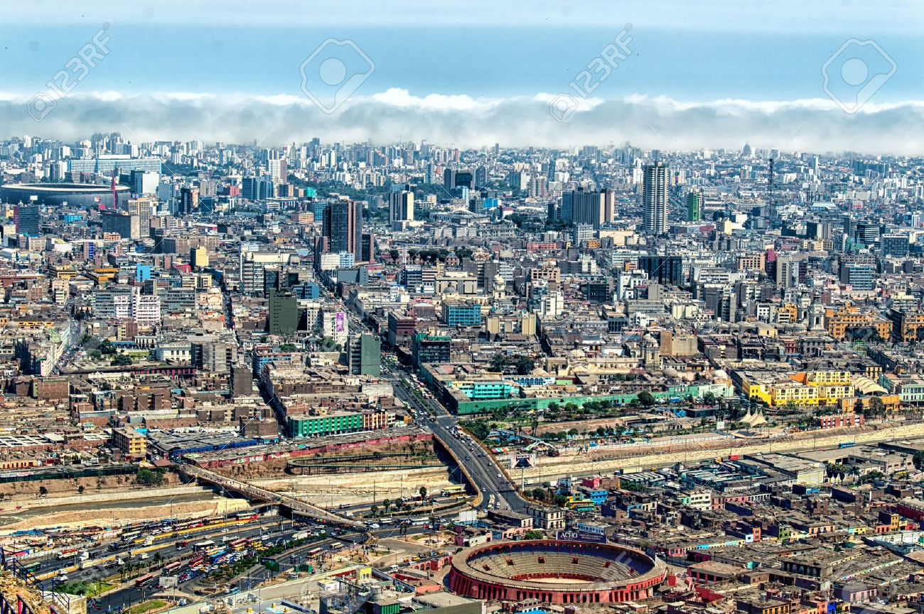 panoramic view of lima city peru stock photo picture and royalty