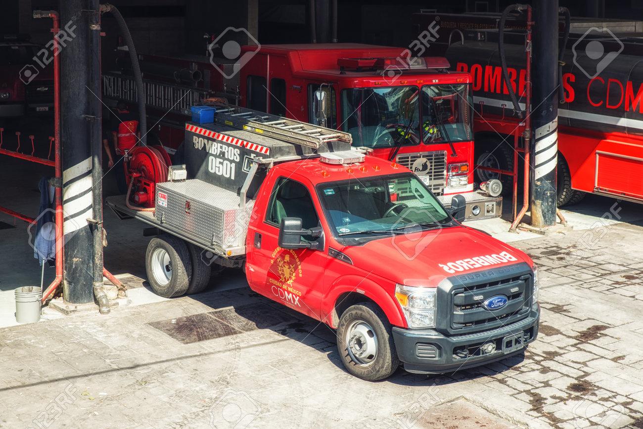 Mexico City, Mexico - February 15, 2018: bright red shiny fire