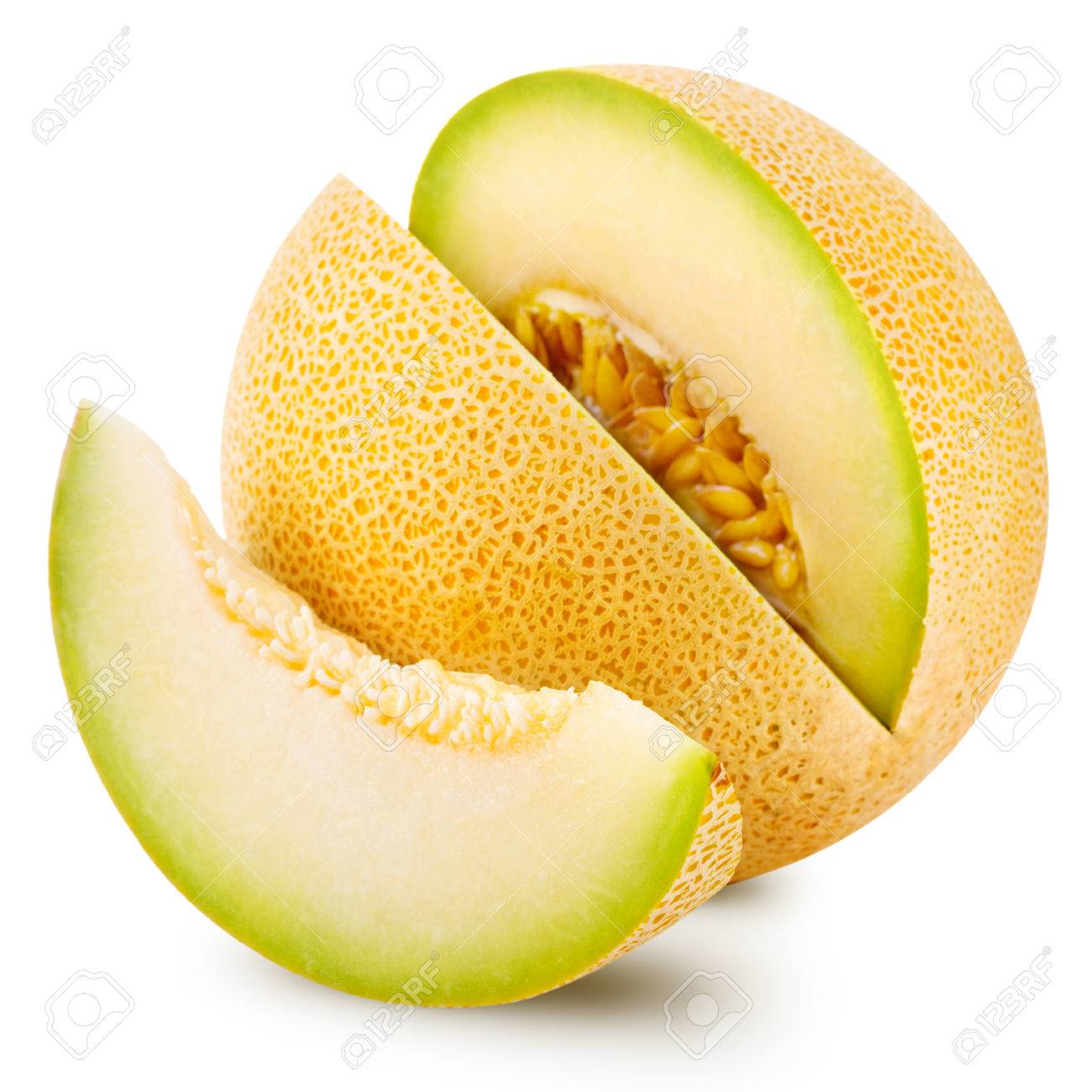 Cantaloupe Melon Isolated On White Stock Photo Picture And Royalty Free Image Image 37750434 Its horns are another slice of cantaloupe. 123rf com