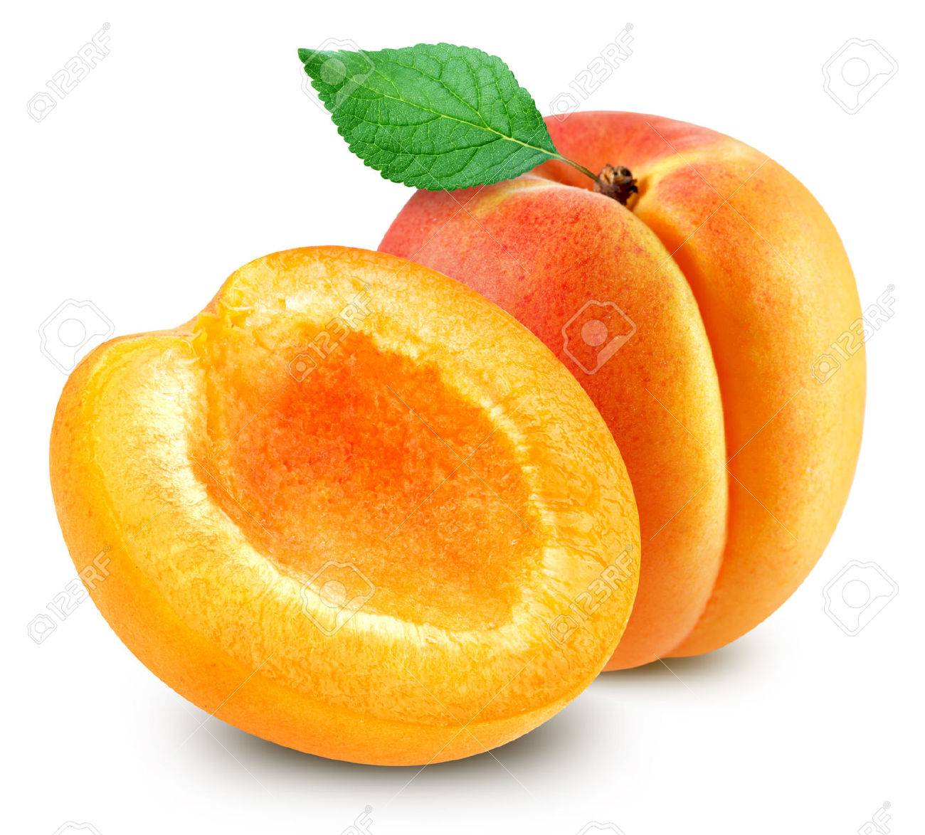 apricot fruits isolated - 77097417