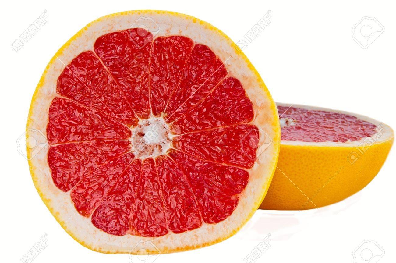 Red Grapefruit on white background Stock Photo - 11321915