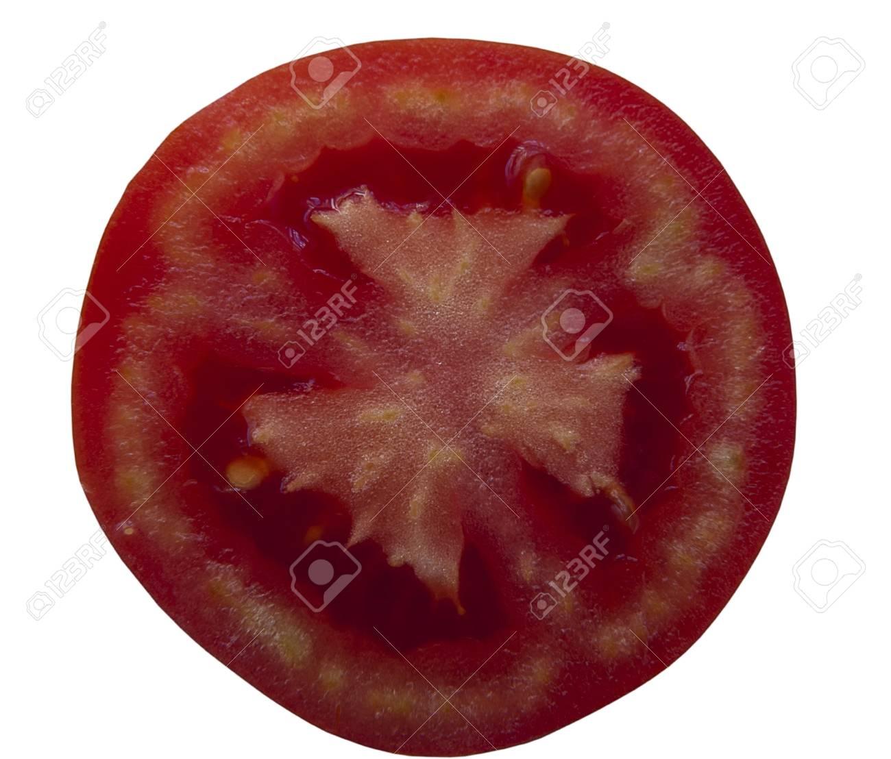 half a tomato on a white background Stock Photo - 14805589