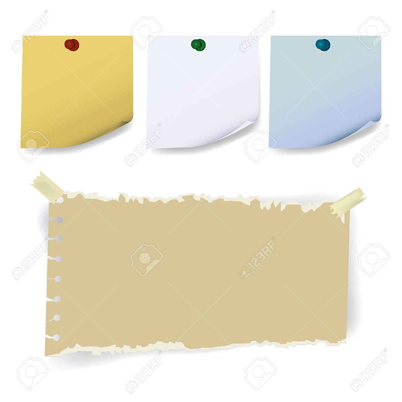 sticky torn  paper Stock Vector - 17045785
