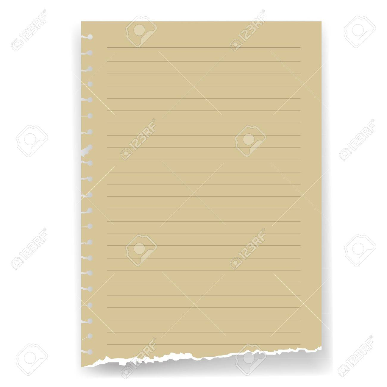 torn lined parchment paper page Stock Vector - 17045782
