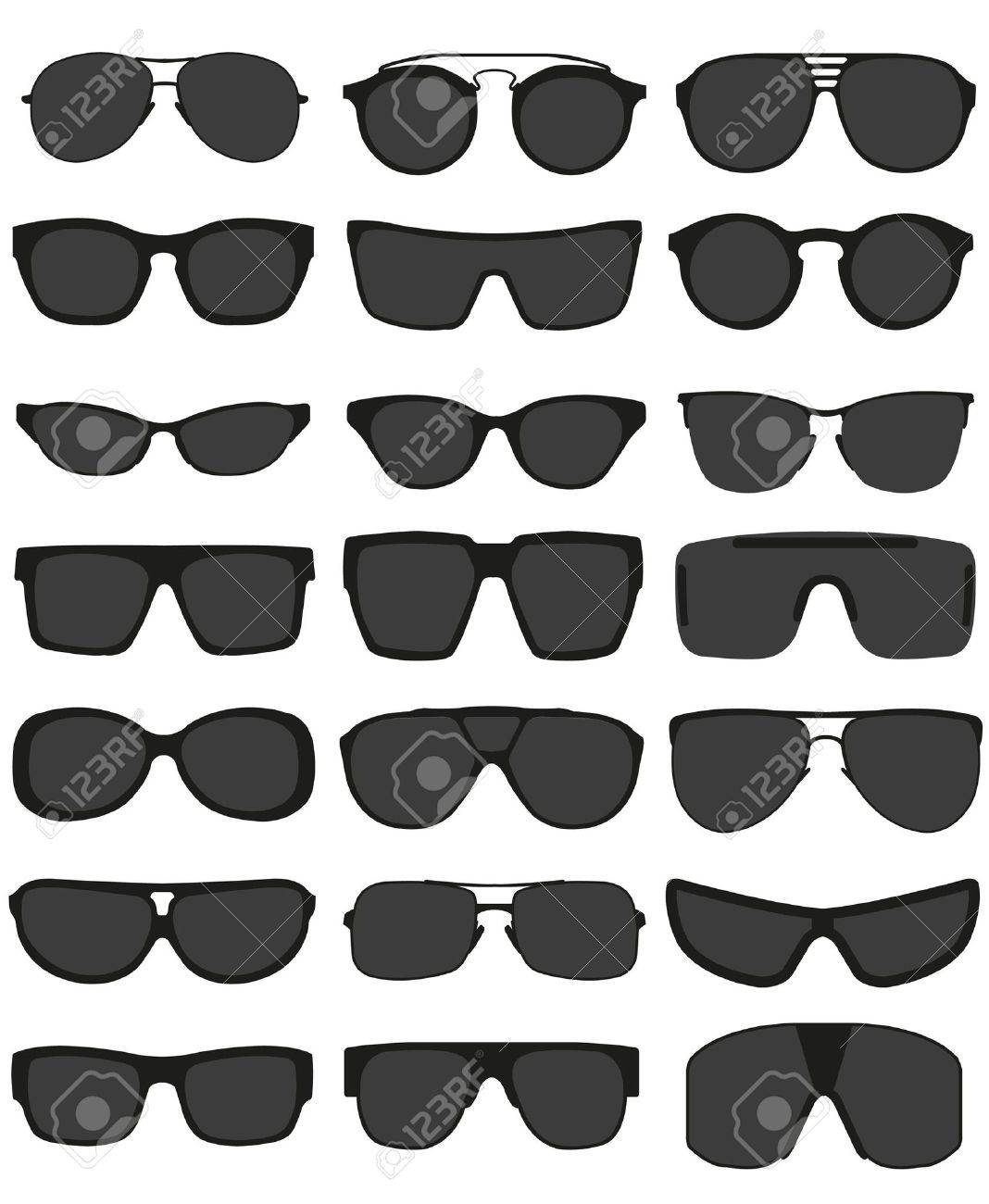 Glasses and sunglasses set Stock Vector - 19279815