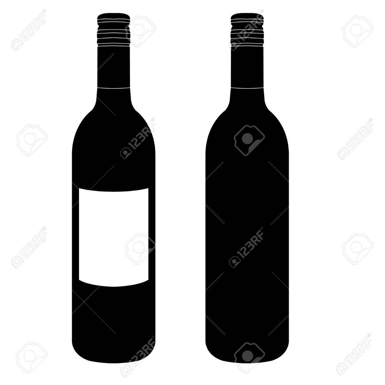 bouteille de vin vecteur