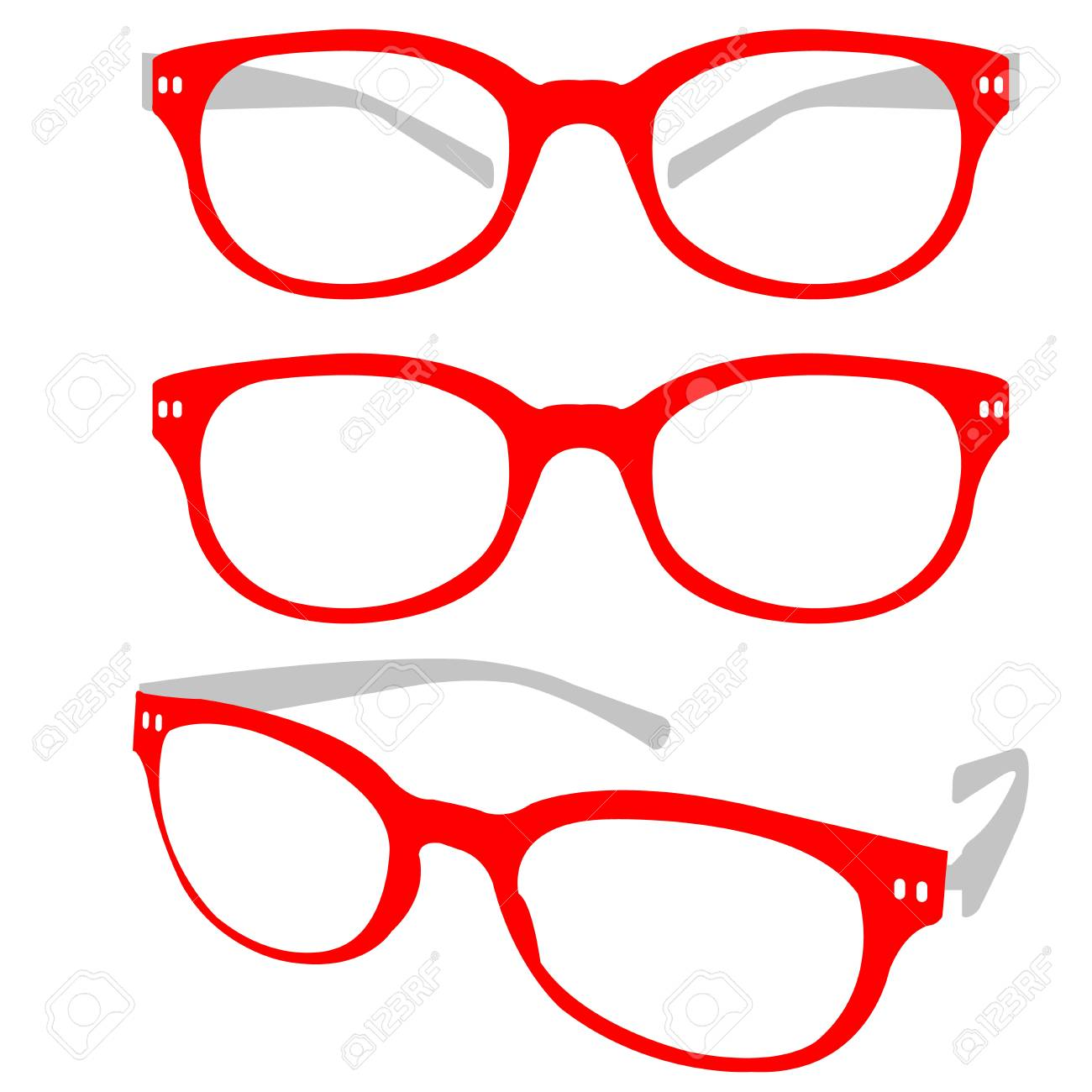 Red Spectacle Stock Vector - 21399852