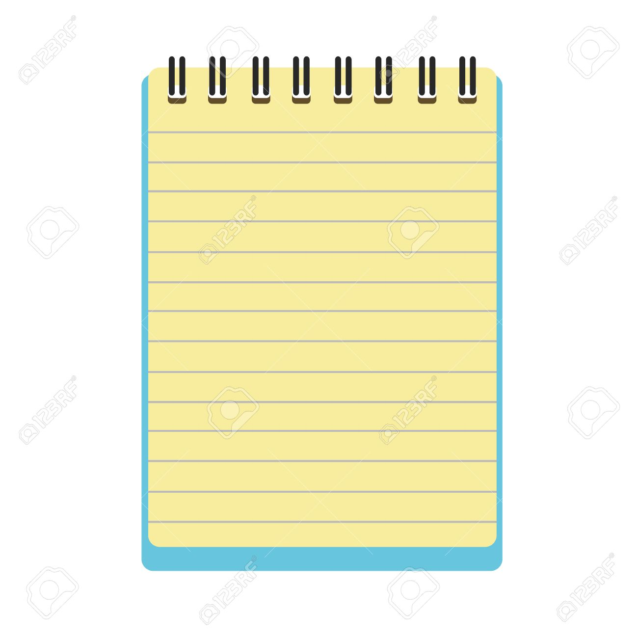 blank notepad vector royalty free cliparts vectors and stock rh 123rf com notebook vector mobile vector notebook
