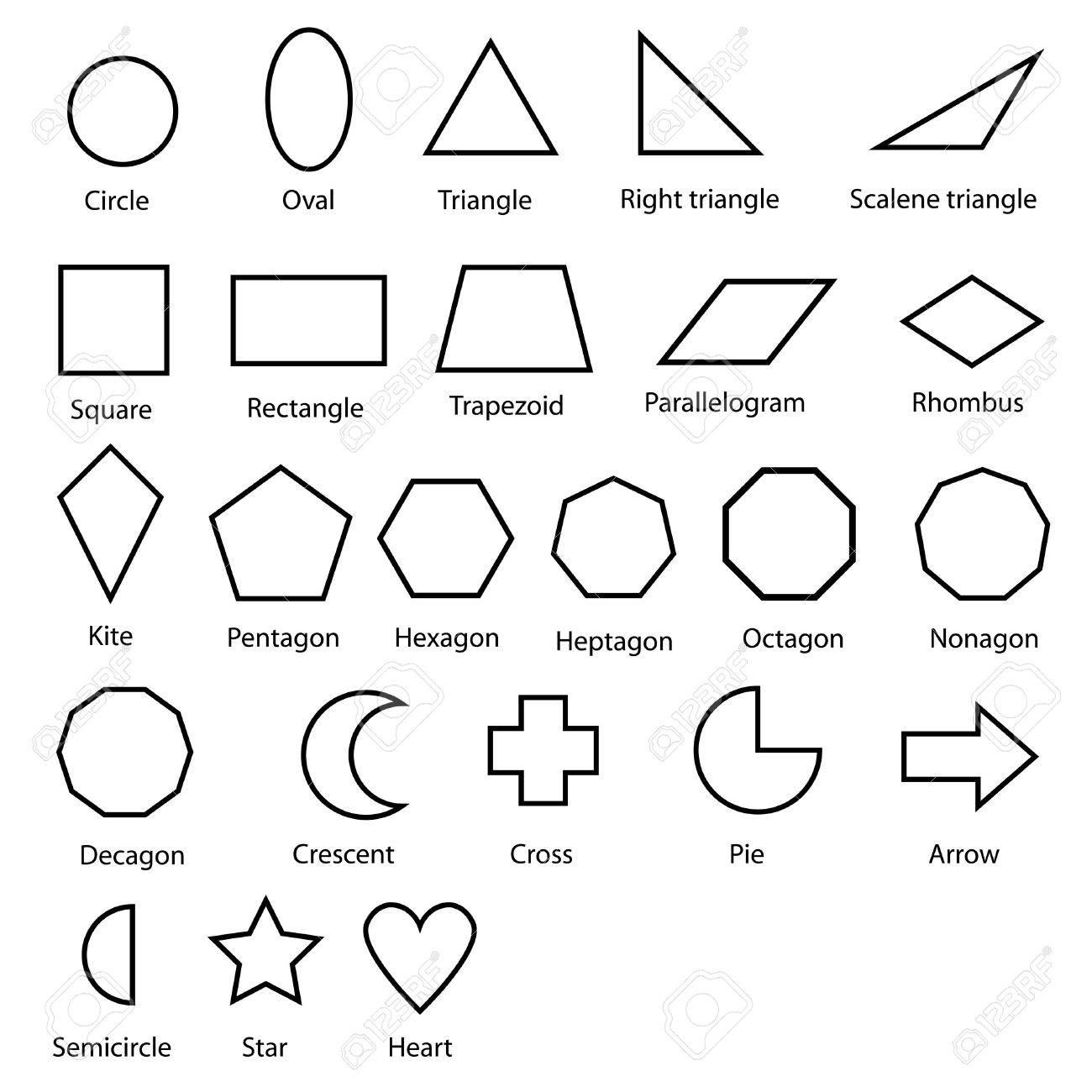 Geometric Shapes Vector Stock