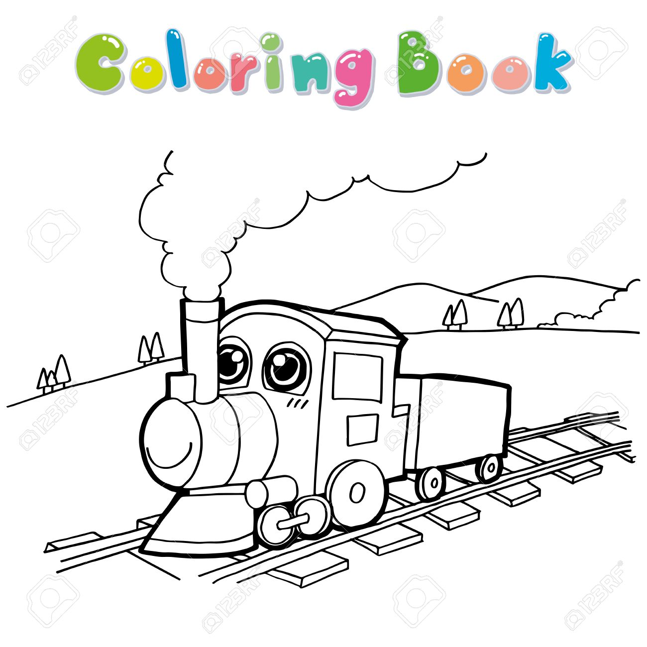 train cartoon coloring page vector royalty free cliparts vectors