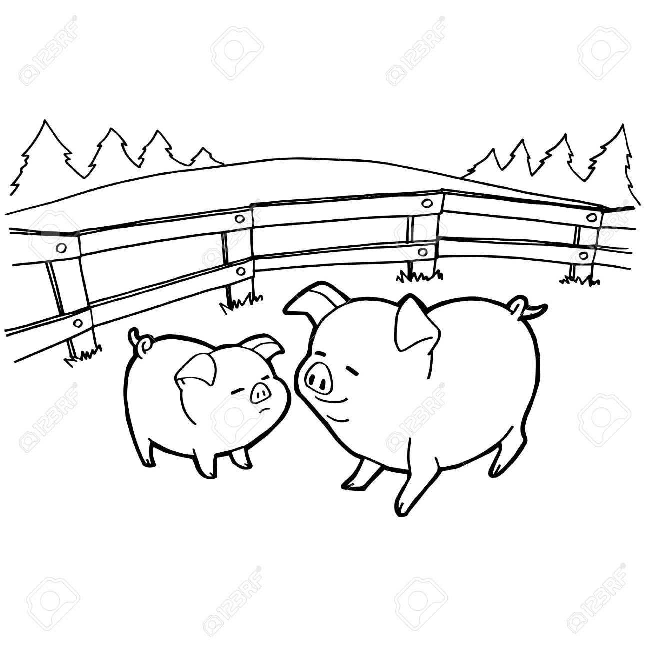 pig cartoon coloring pages vector royalty free cliparts vectors