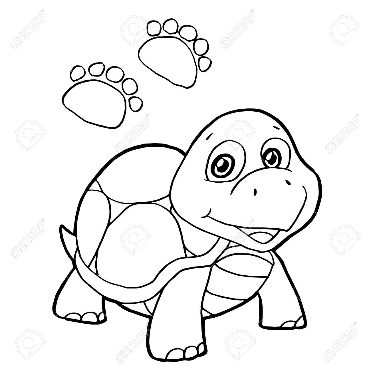 Pfotenabdruck Mit Schildkröte Malvorlagen Vektor Lizenzfrei Nutzbare ...
