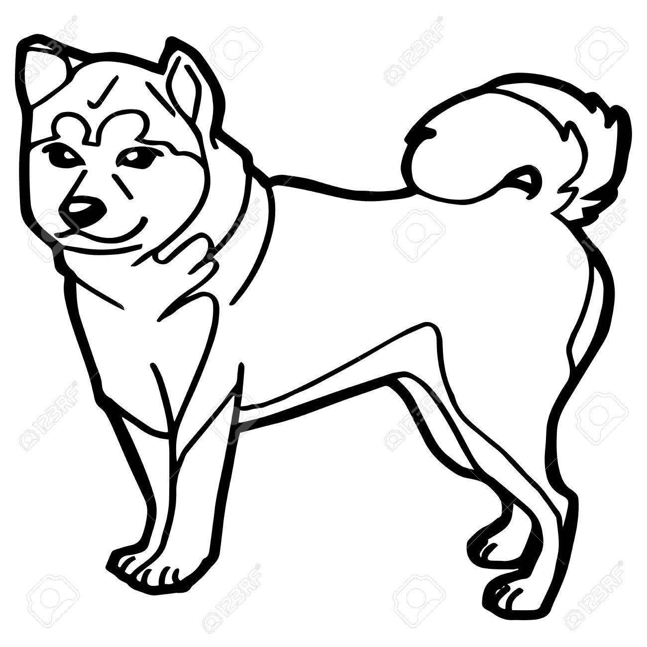 Cartoon Illustration Of Funny Dog For Coloring Book Royalty Free ...