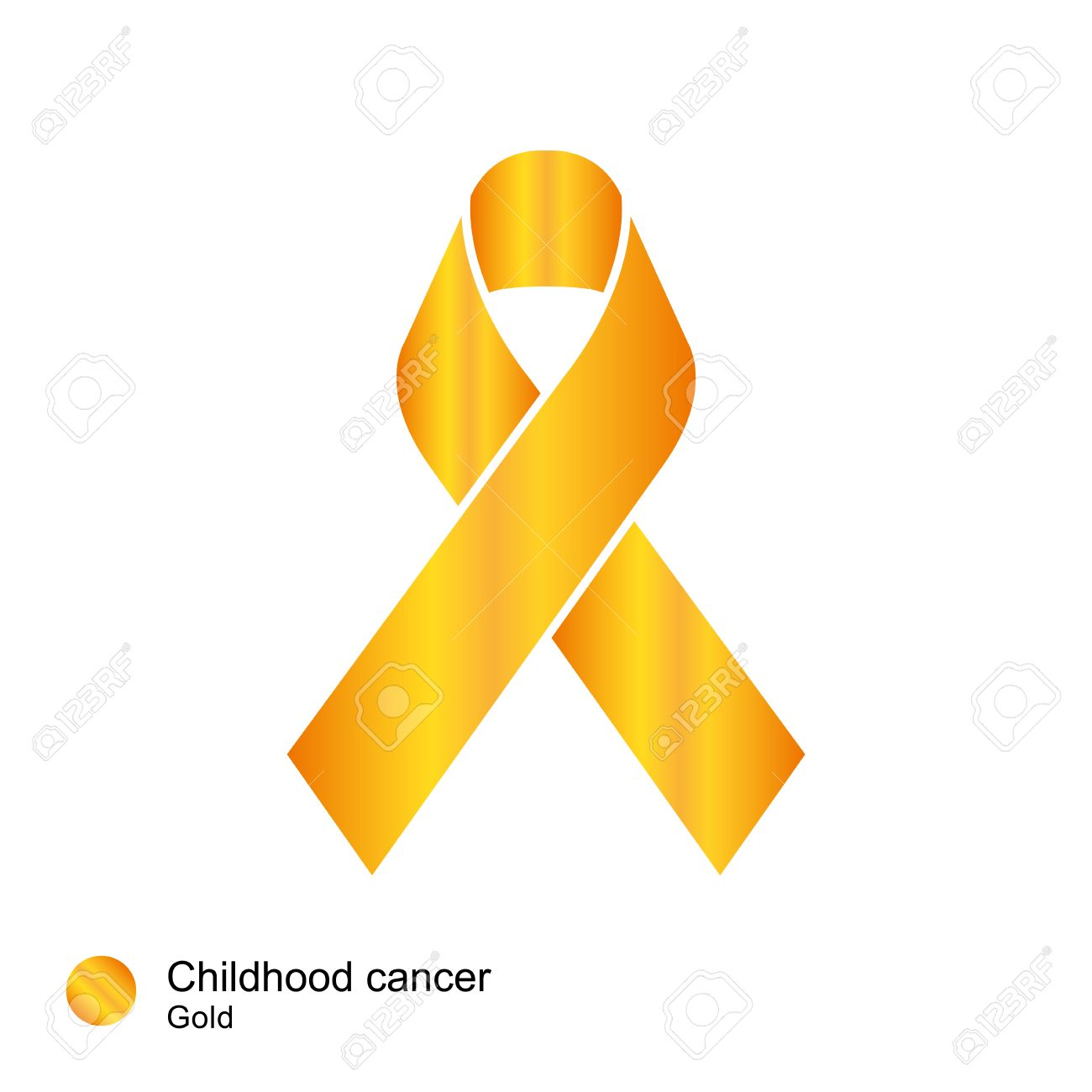 Childhood Cancer Ribbon Vector Royalty Free Cliparts Vectors And