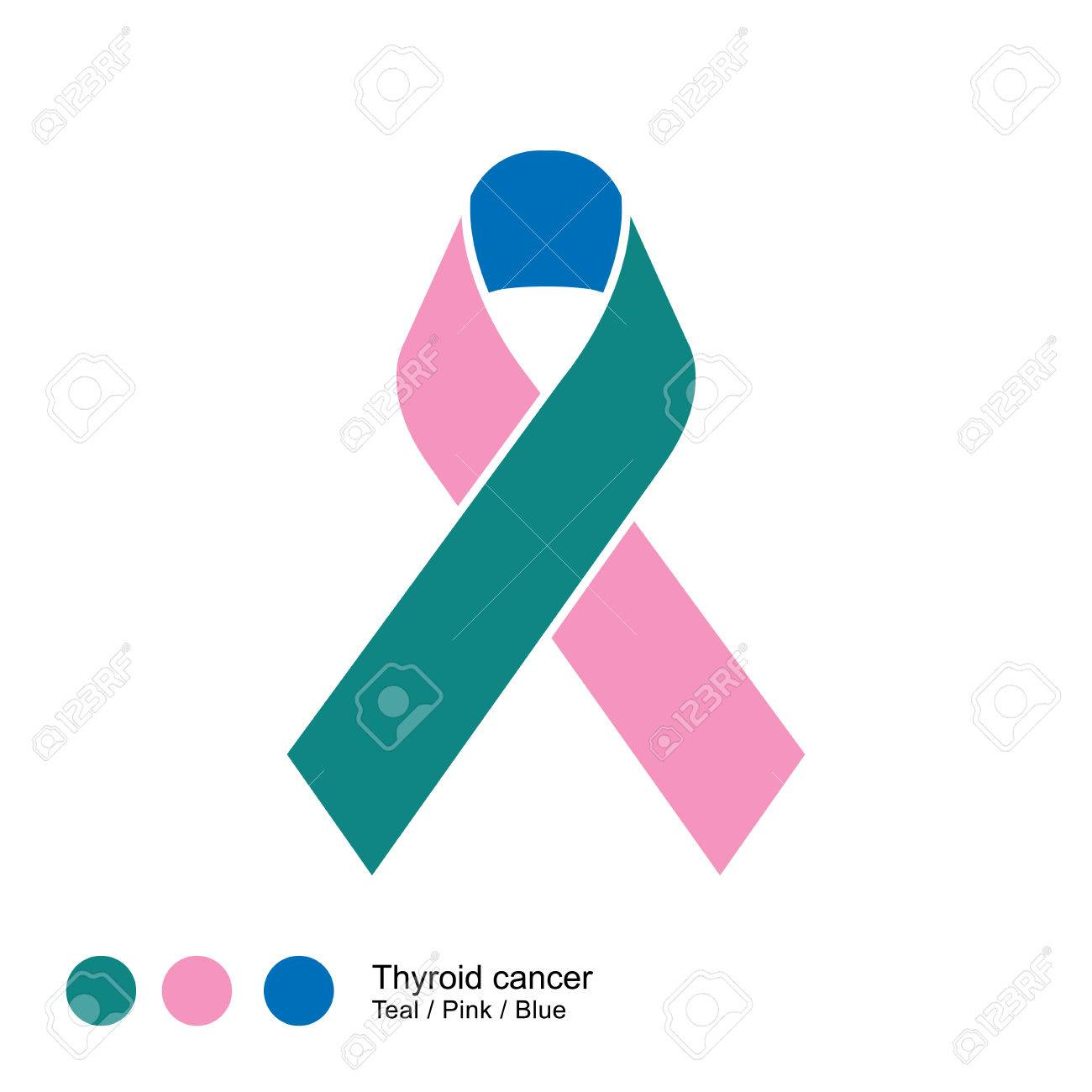 Thyroid Cancer Ribbon Vector Royalty Free Cliparts Vectors And