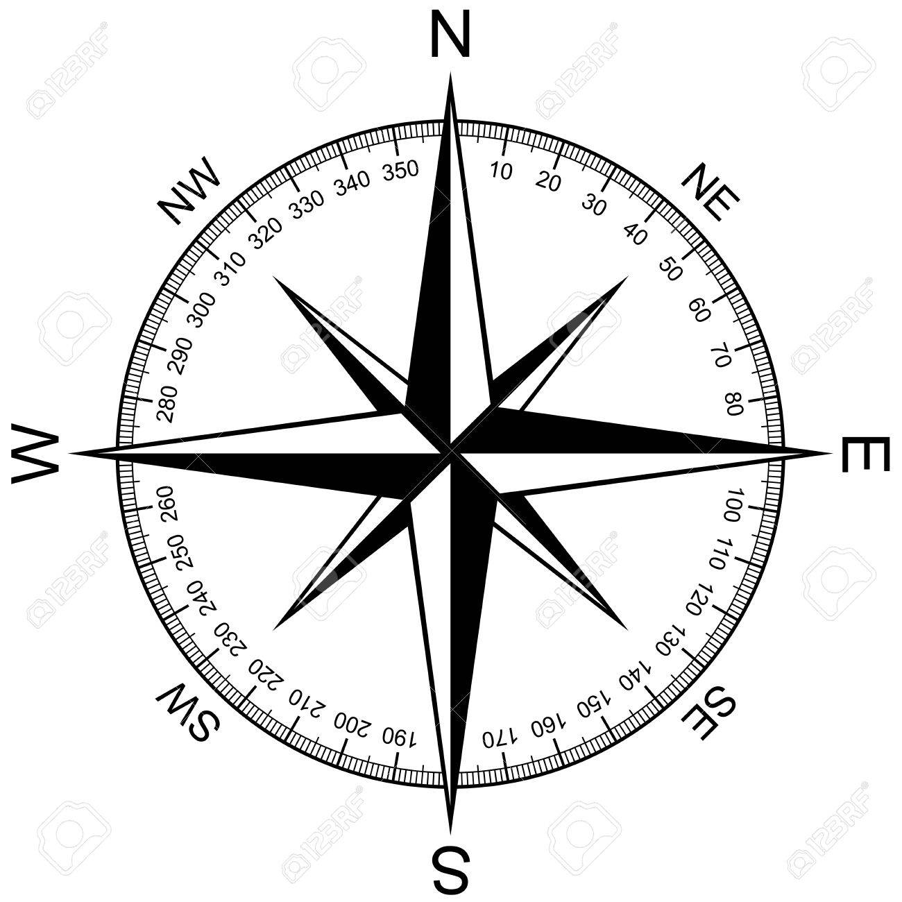 compass rose isolated on white royalty free cliparts vectors and rh 123rf com free compass vector icon free compass vector ai