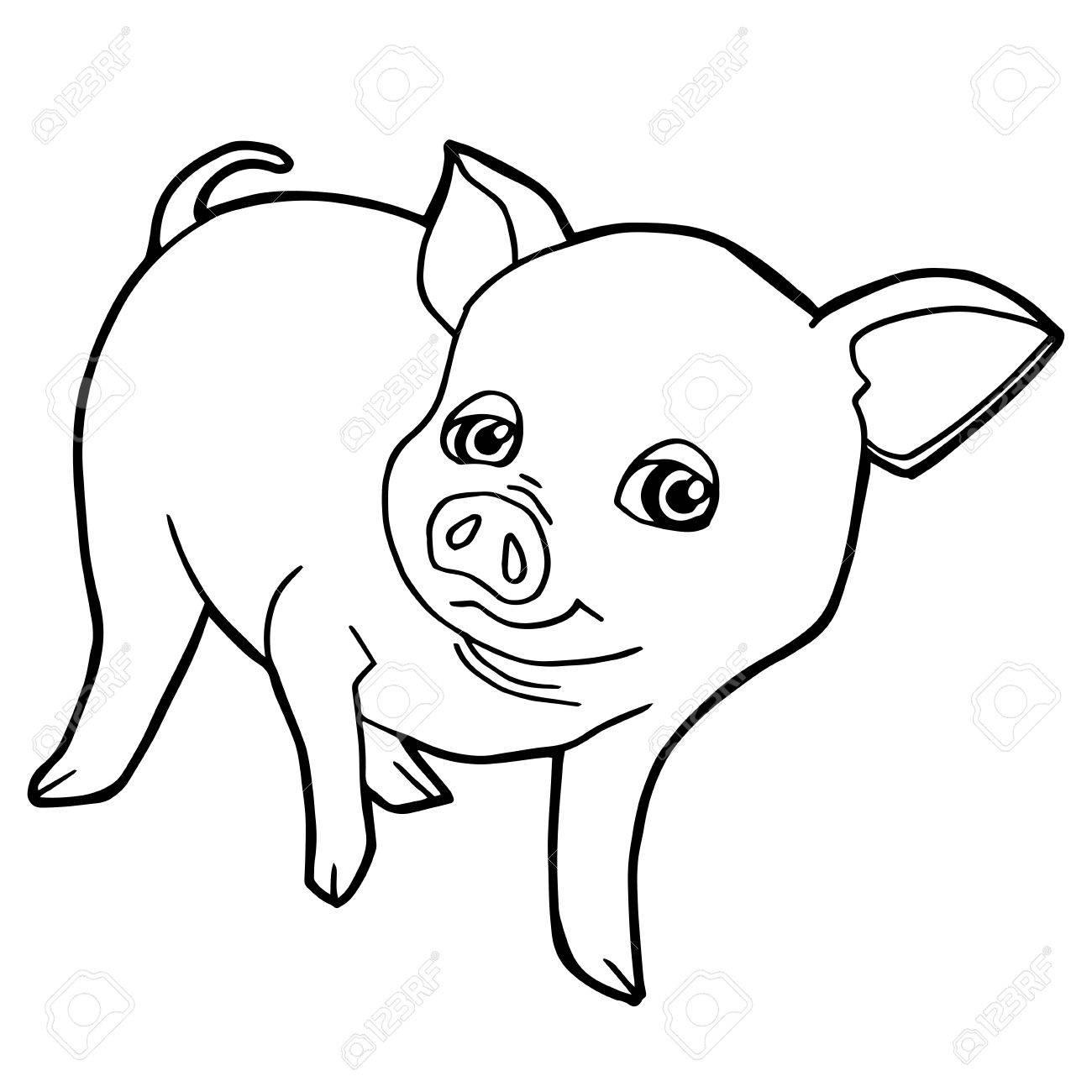 Increíble Cerdo Gratis Para Colorear Colección de Imágenes ...