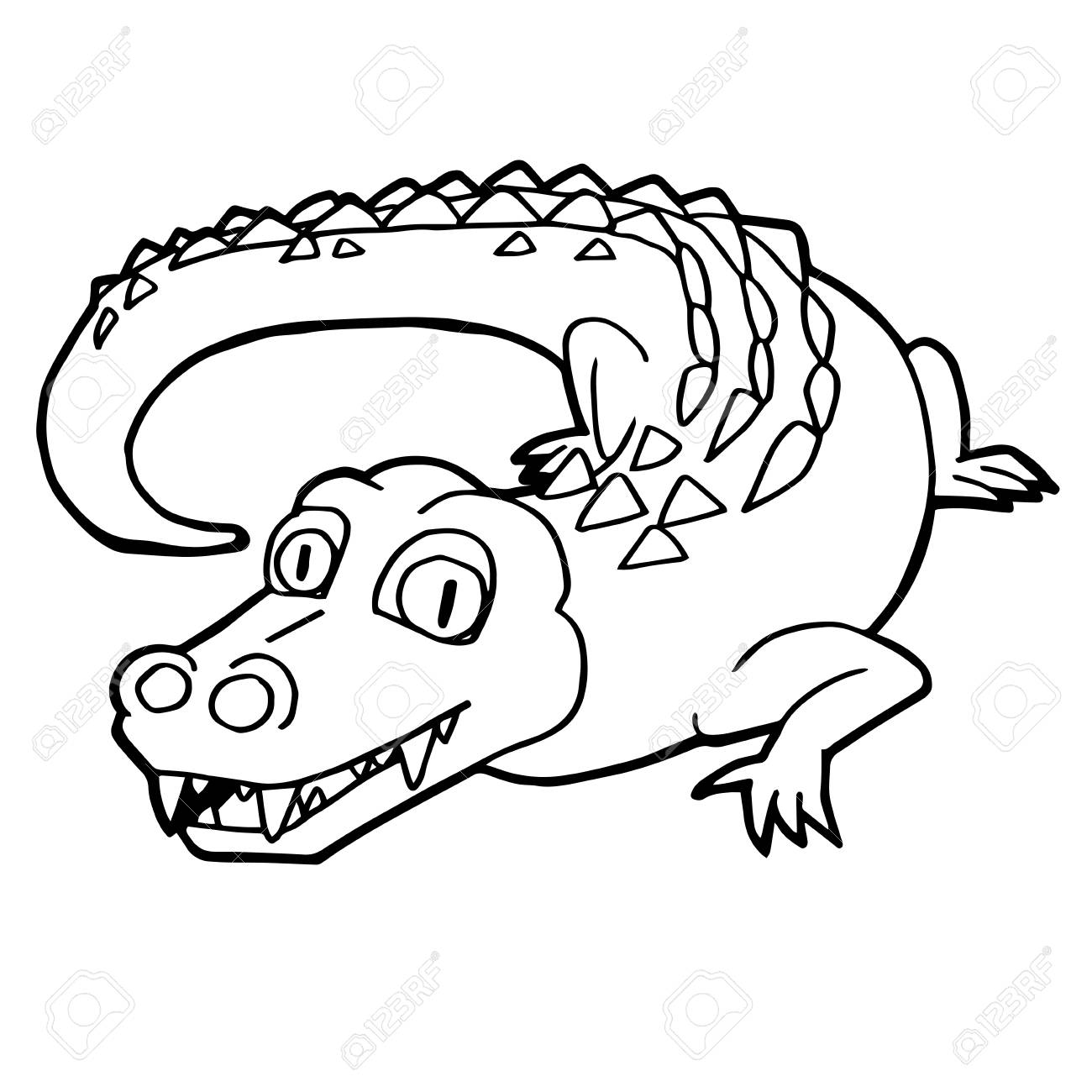 Free Printable Crocodile Coloring Pages For Kids | Coloring pages ... | 1300x1300