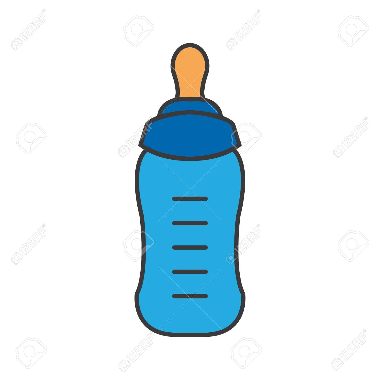 feeding bottle or baby bottle for infants and young children rh 123rf com baby bottle vector png baby bottle vector png