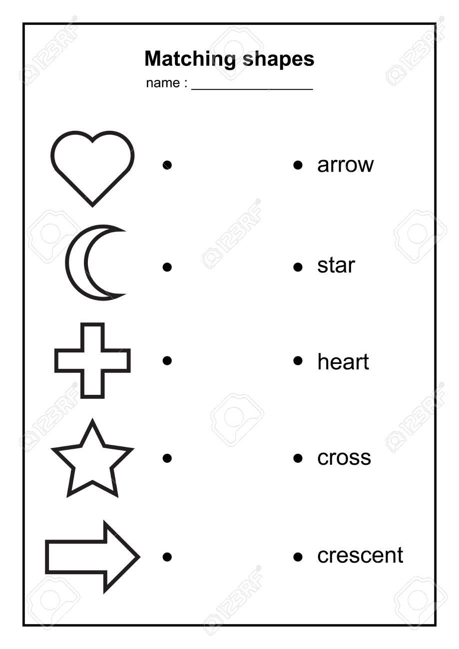 eometry shape matching game. educational geometric shapes game...