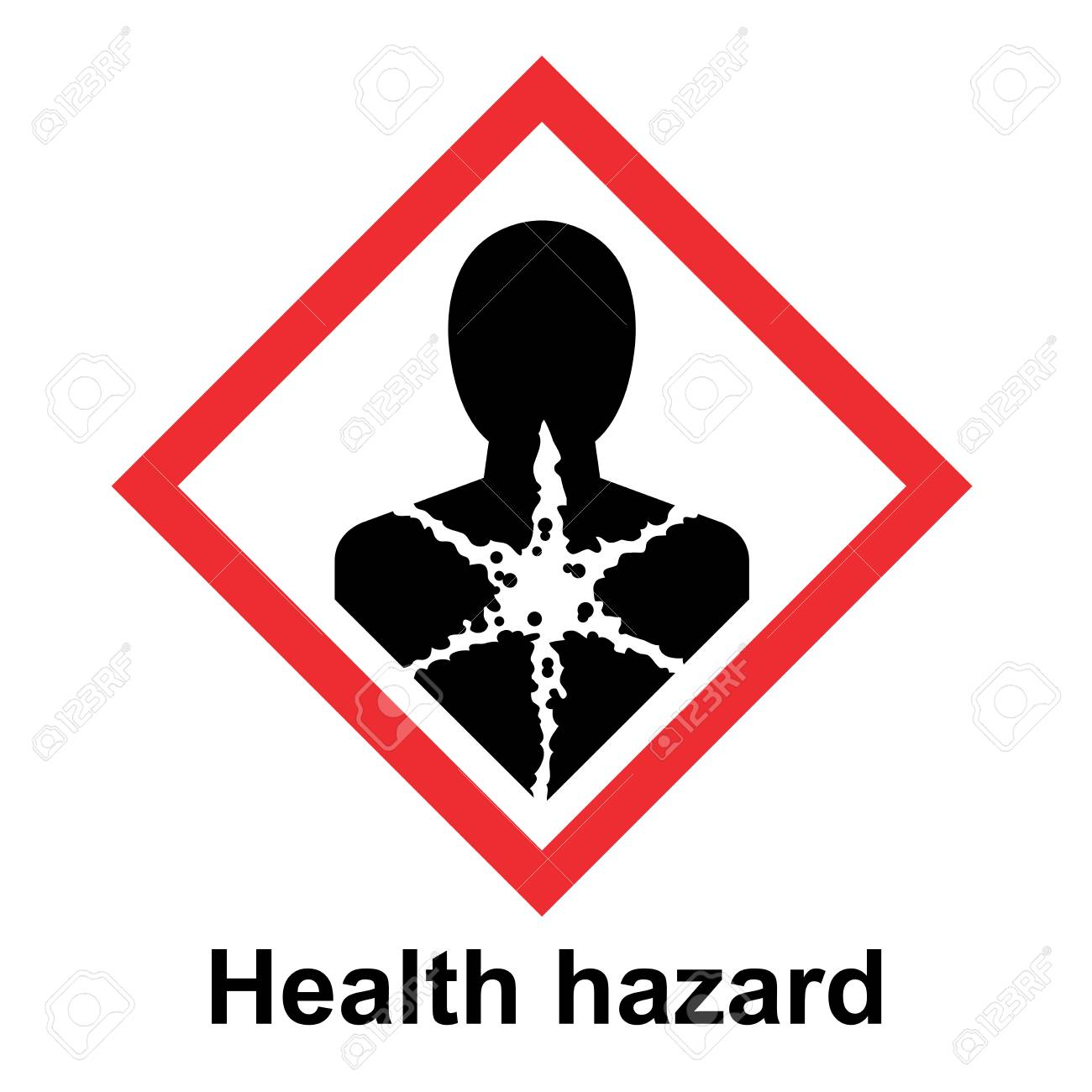 The Globally Harmonized System of Classification and Labeling of Chemicals vector on white background illustration - 117690102