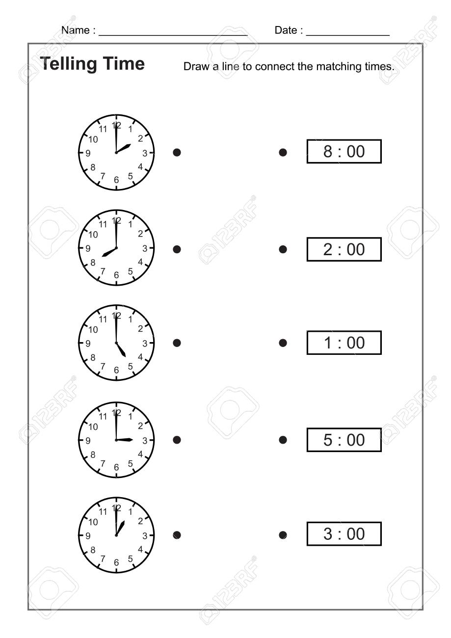 - Telling Time Telling The Time Practice For Children Time