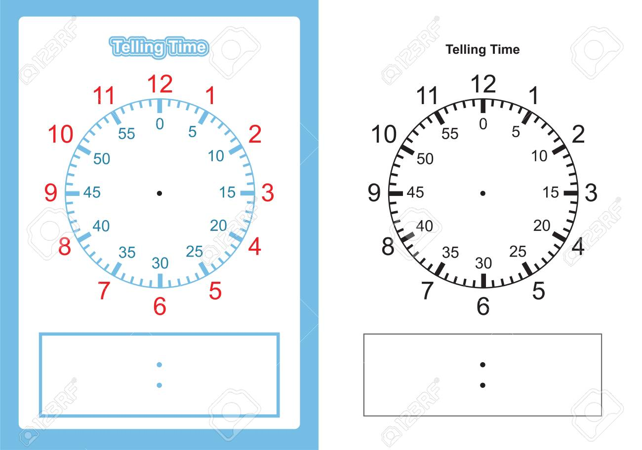 Teaching time chart telling the time for teacher chart for teaching