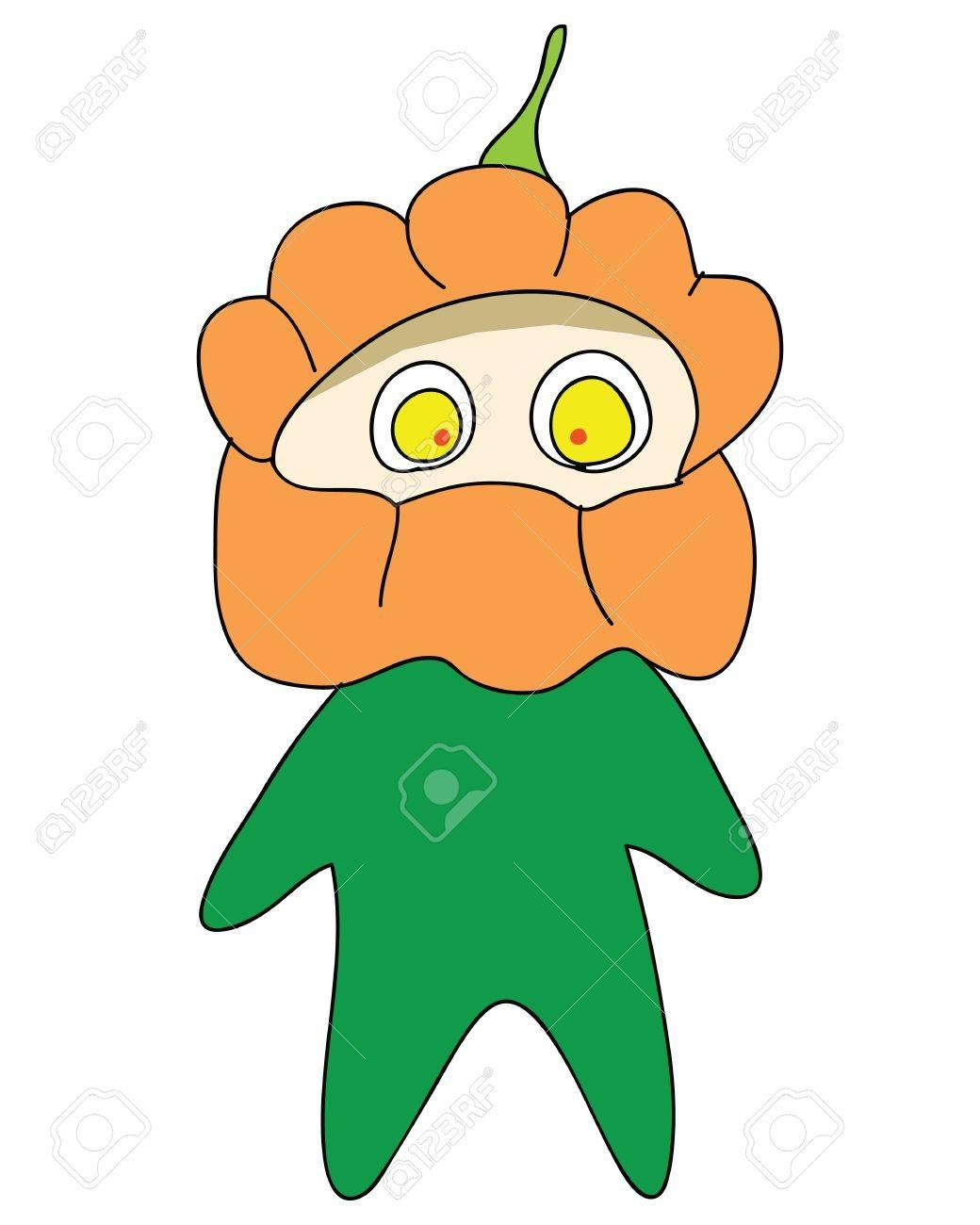 halloween monster cartoon charactor hand drawn illustration Stock Vector - 15965124