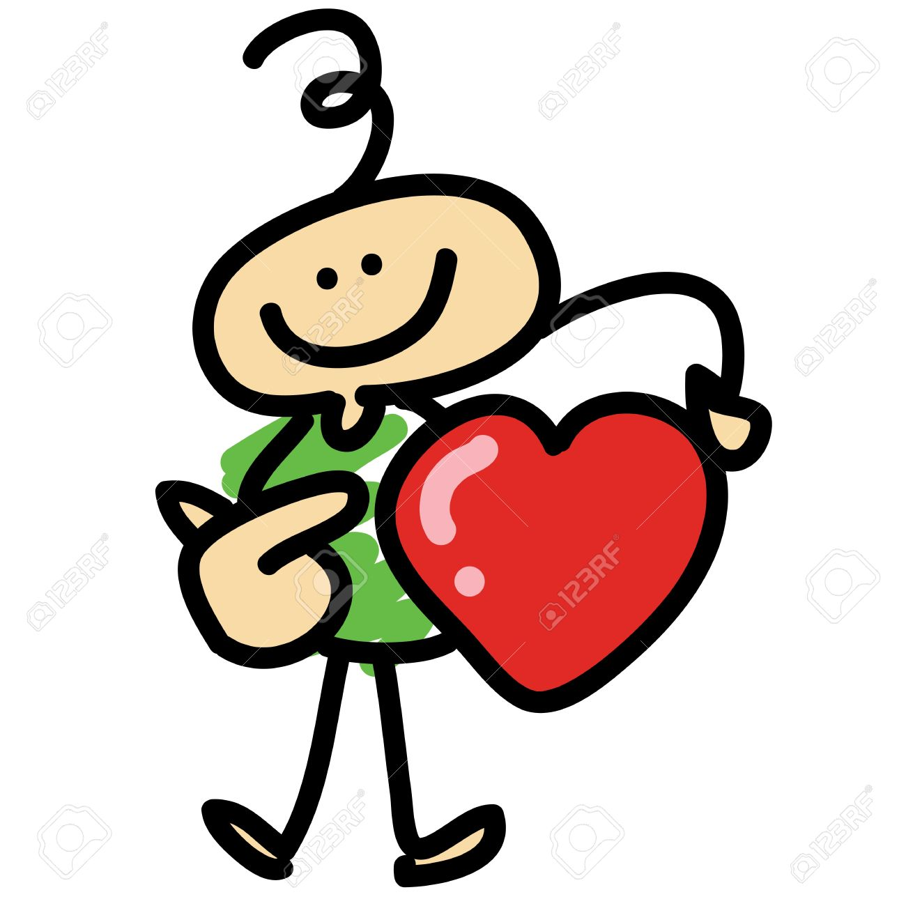Cartoon Hand-drawn Love Concept Showing Heart Royalty Free Cliparts,  Vectors, And Stock Illustration. Image 16325559.