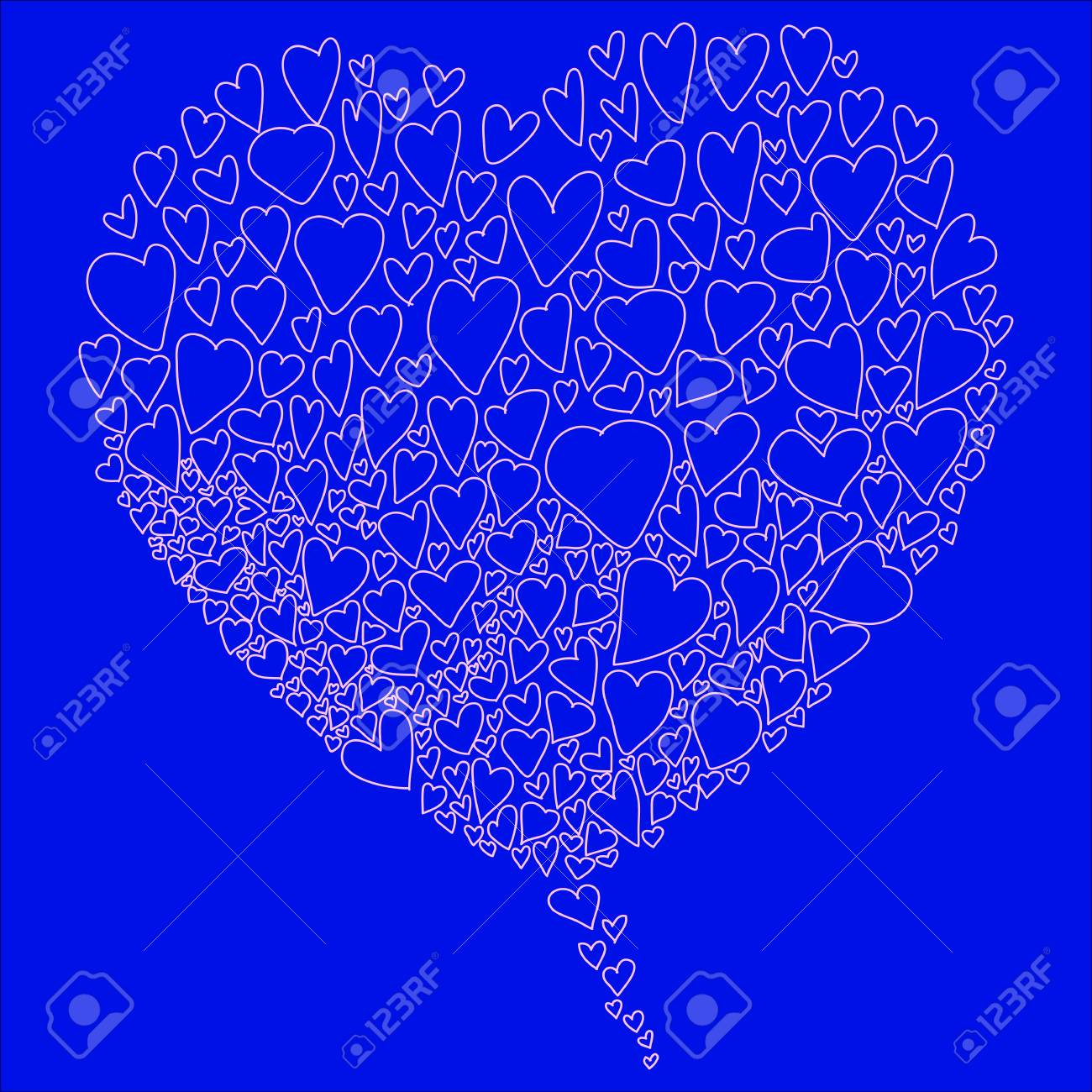 love hearts doodle hand-drawn for valentine Stock Vector - 17451081