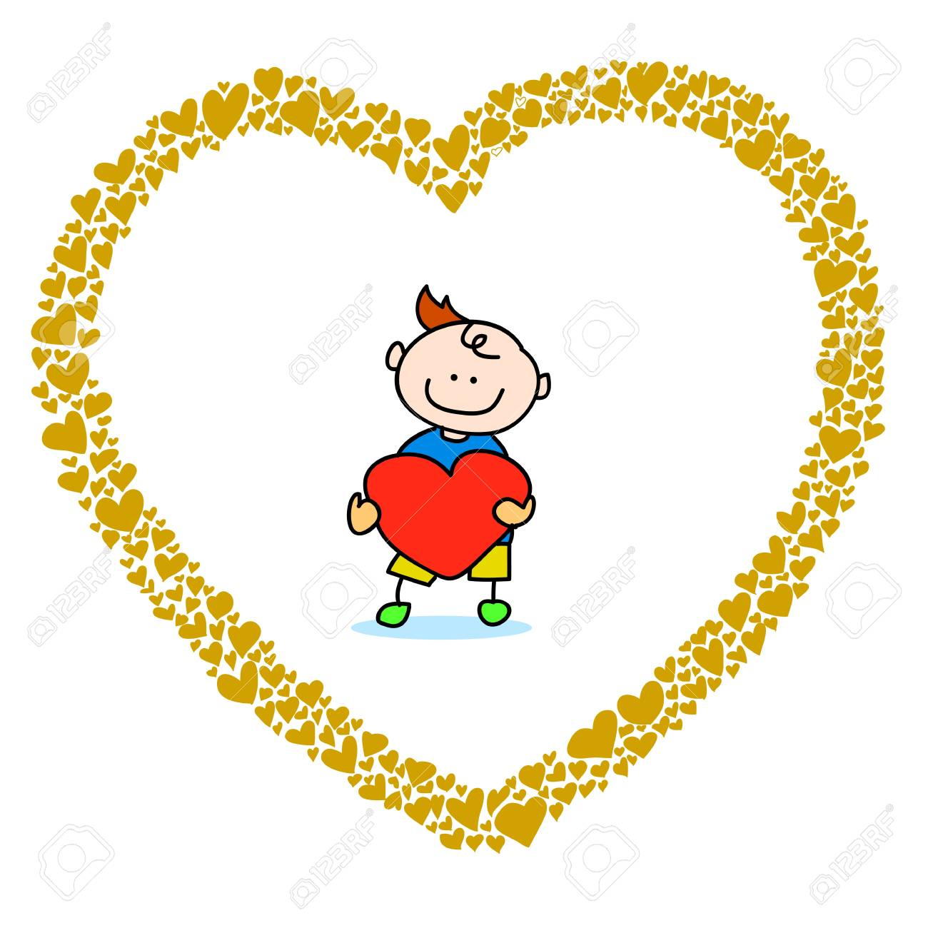 hand-drawn heart sketch design for valentine Stock Vector - 17451077