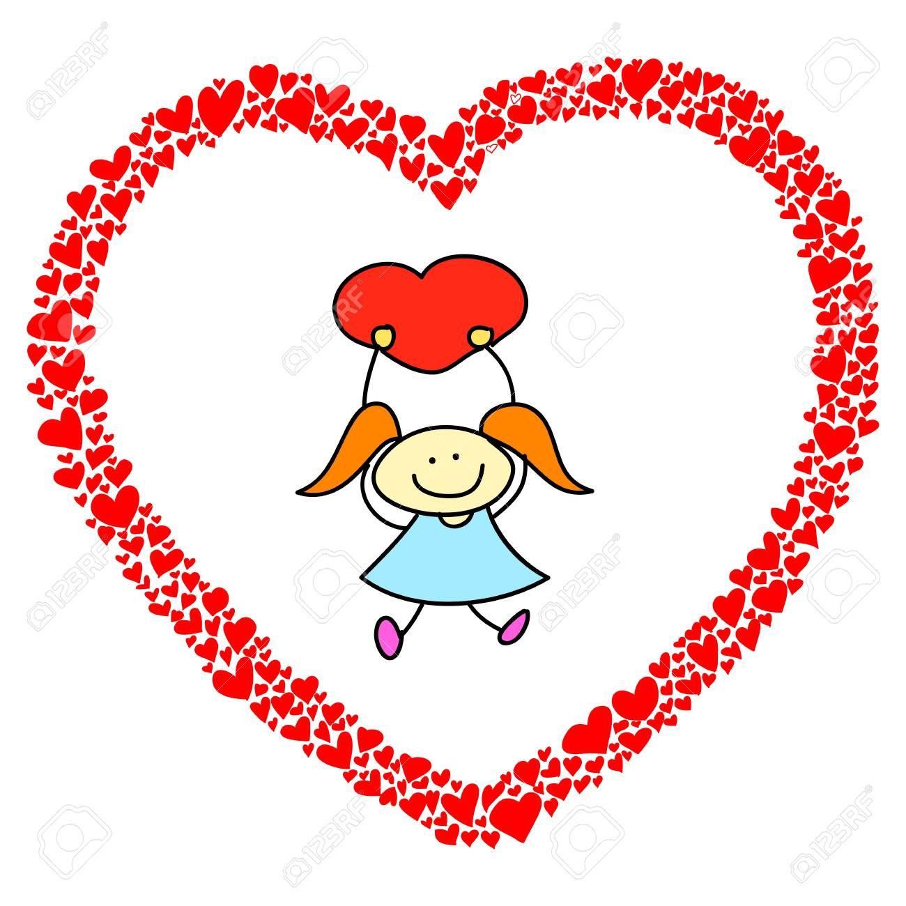 hand-drawn heart sketch design for valentine Stock Vector - 17501352