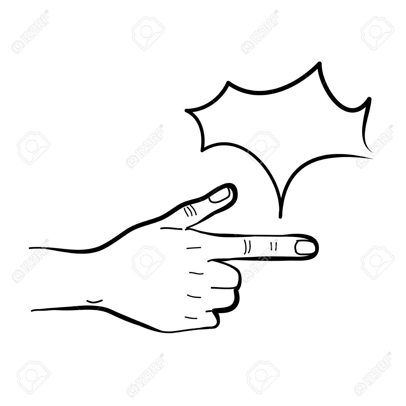hand drawing freehand sketch hand pointing for design Stock Vector - 18816945