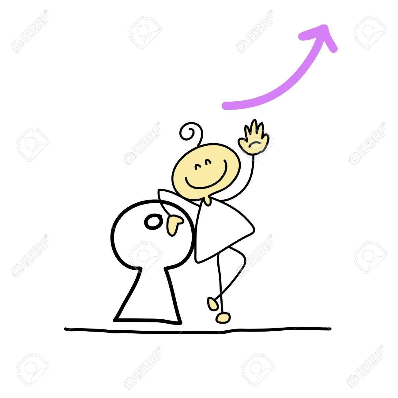 hand drawing cartoon characters creativity for presentation Stock Vector - 19140555