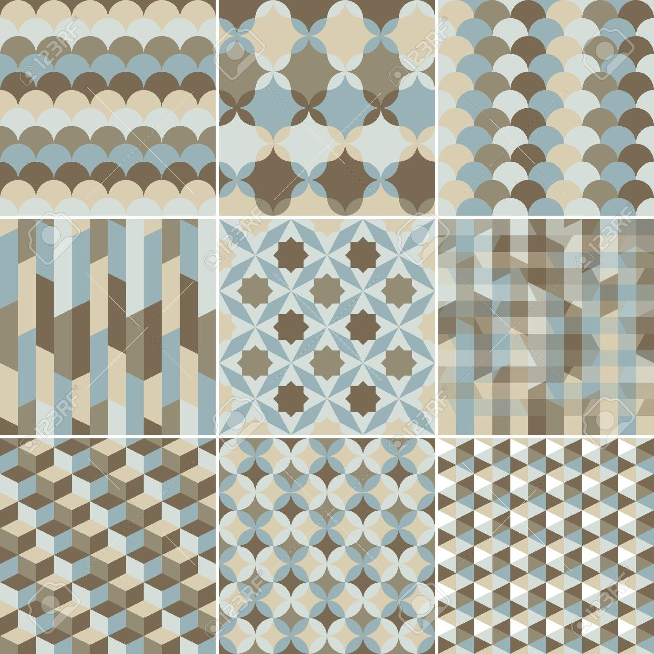 set of abstract geometric pattern background for design - 21396987