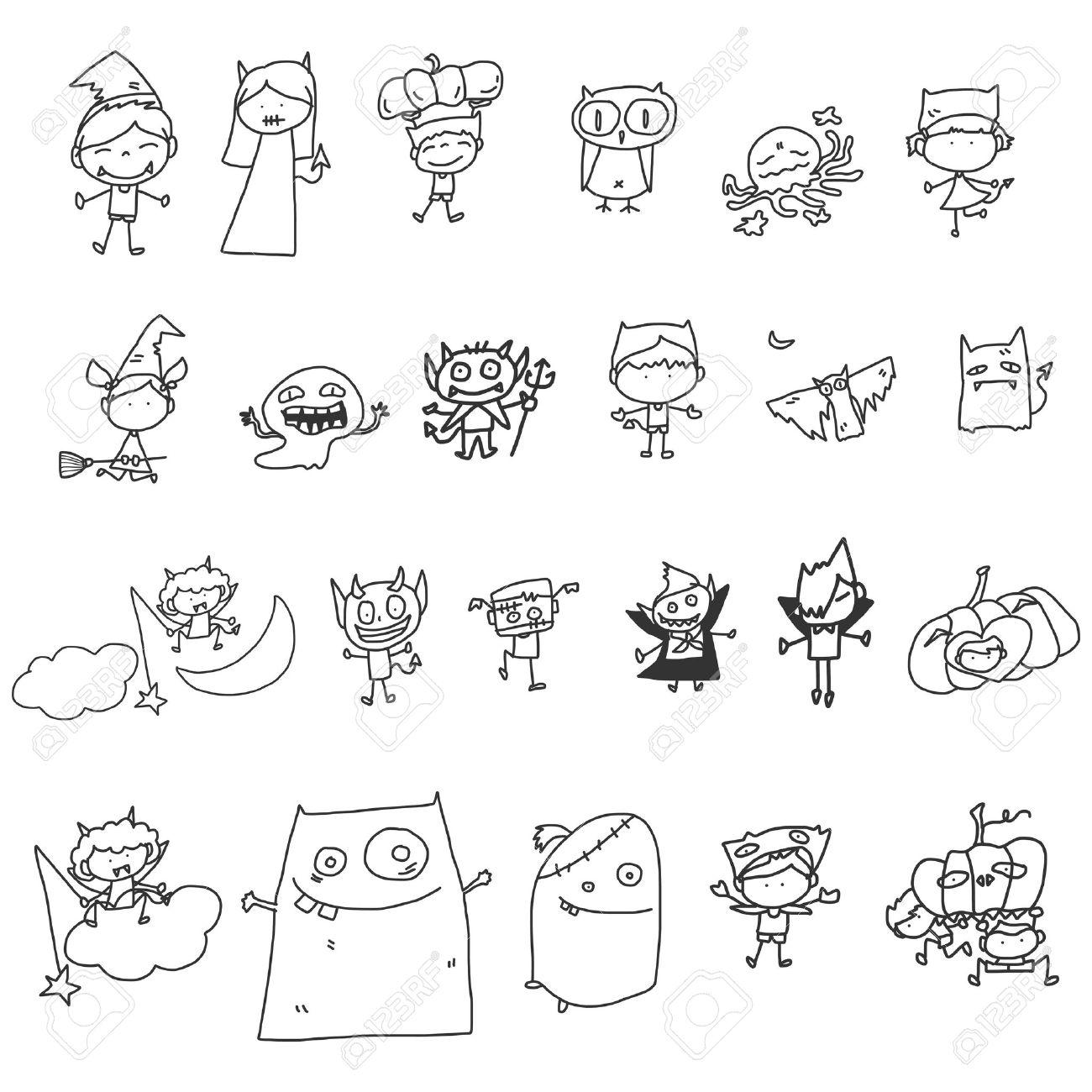 vector sketch halloween cartoon character - 21502069